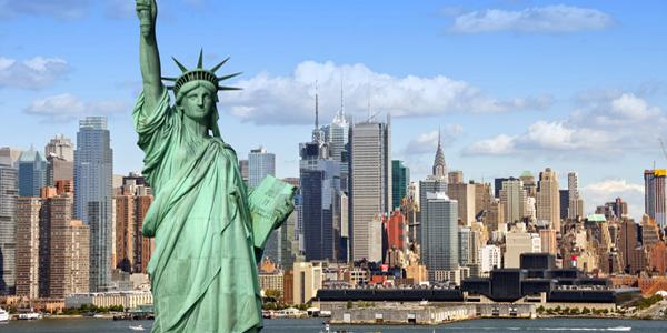 в америке статуя свободы фото