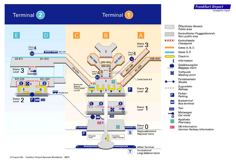 Схема зала прилета аэропорта